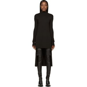 Rick Owens Black Moody Collection Sweater Dress
